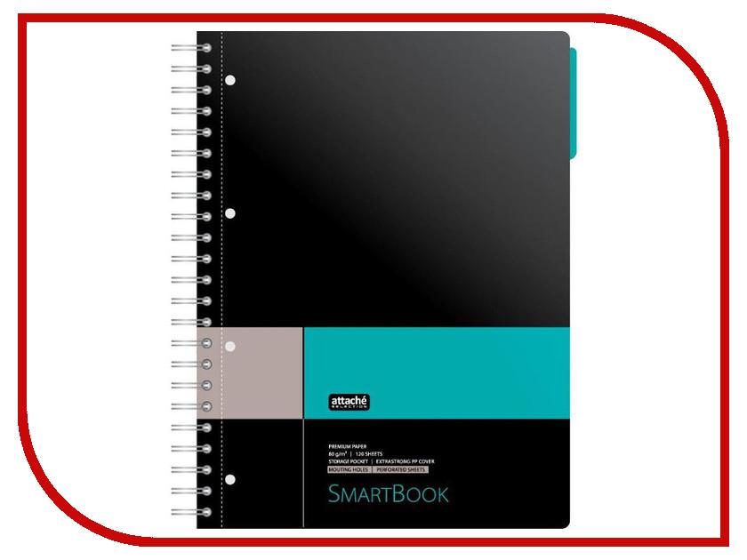 Бизнес-тетрадь Attache Selection Smartbook A4 120 листов Grey-Turquoise 272652