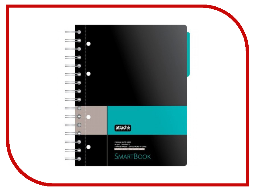 Бизнес-тетрадь Attache Selection Smartbook A5 120 листов Grey-Turquoise 272649 smartbook 133s