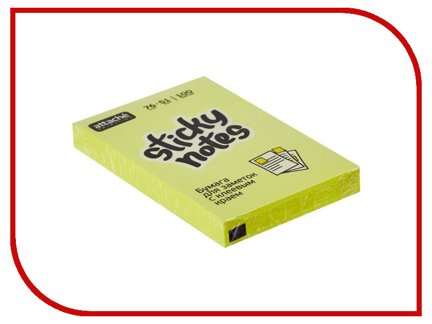 Фото - Стикеры Attache Selection 76x51mm 100 листов Yellow 383708 стикеры для стен chinastyler 60 92 diy month1