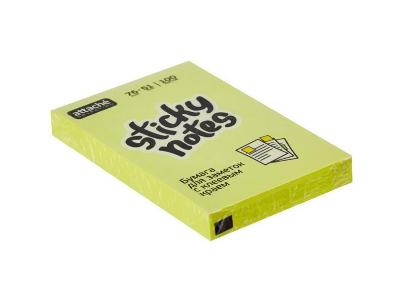 Стикеры Attache Selection 76x51mm 100 листов Yellow 383708 маркер attache selection neon dash 1 5mm yellow 426881