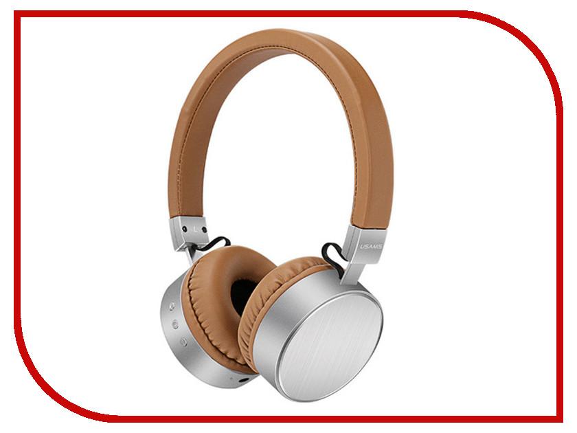 USAMS LH Series Bluetooth Headphone Brown-Silver