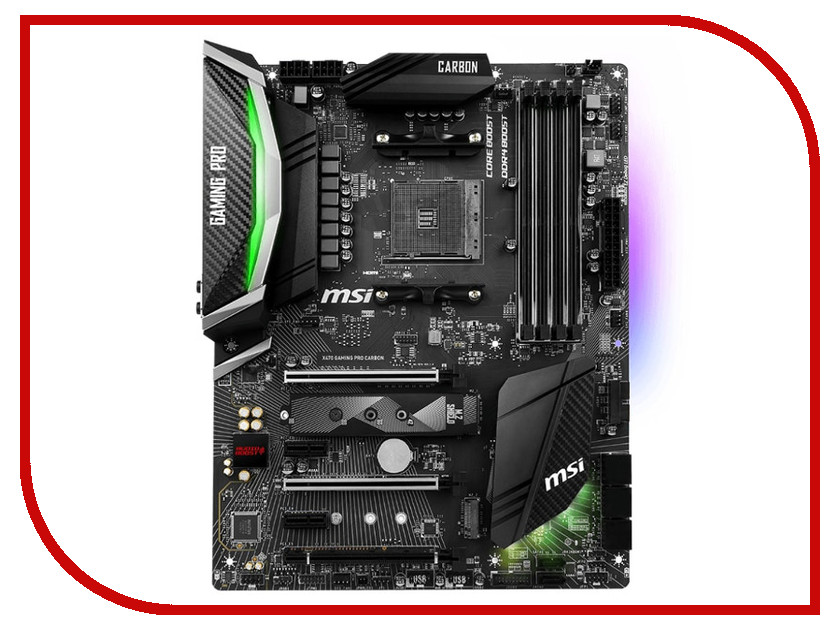 Материнская плата MSI X470 GAMING PRO CARBON ноутбук msi gs43vr 7re 094ru phantom pro 9s7 14a332 094