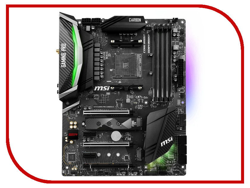 Материнская плата MSI X470 GAMING PRO CARBON AC ноутбук msi gs43vr 7re 094ru phantom pro 9s7 14a332 094