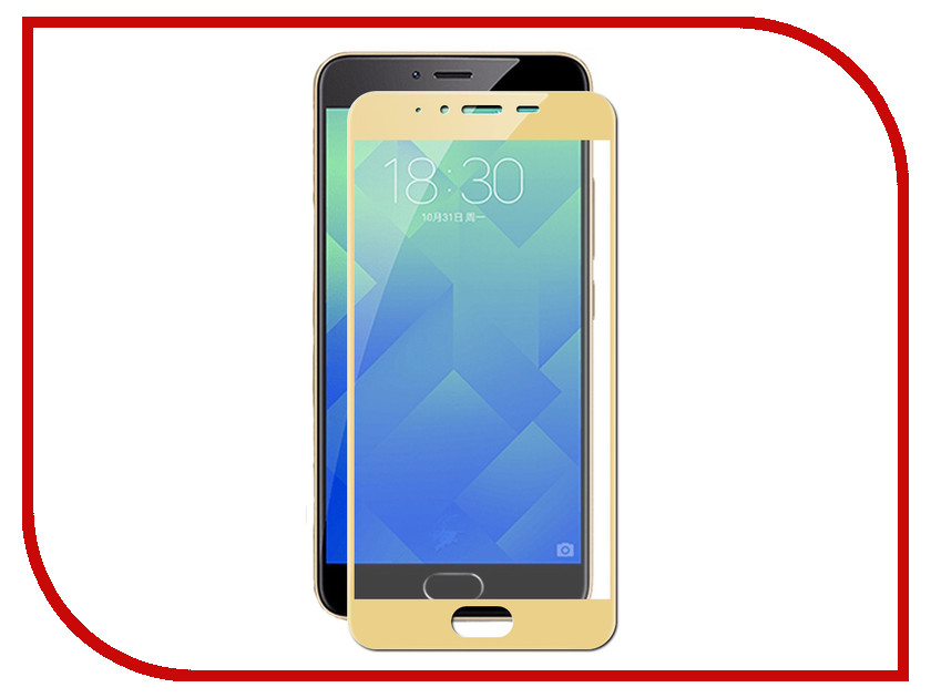 Аксессуар Защитное стекло Meizu M5 Pero 2.5D Gold аксессуар защитное стекло meizu pro 7 pero prsg pro7
