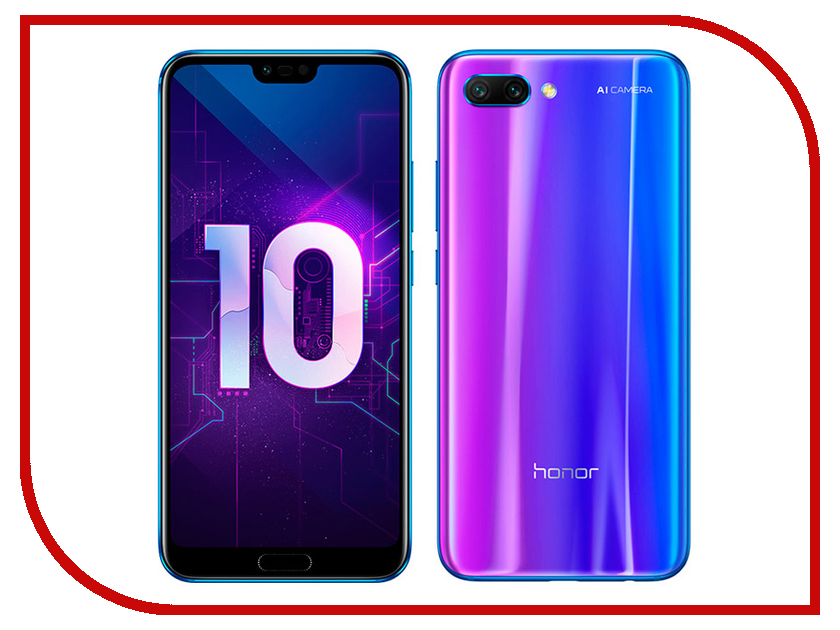 Сотовый телефон Honor 10 64Gb Blue