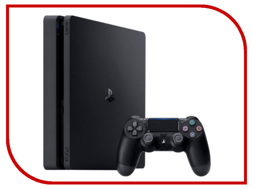 Игровая приставка Sony PlayStation 4 1TB Slim CUH-2108B + GOW игровая приставка sony playstation 4 1tb slim cuh 2108b gow