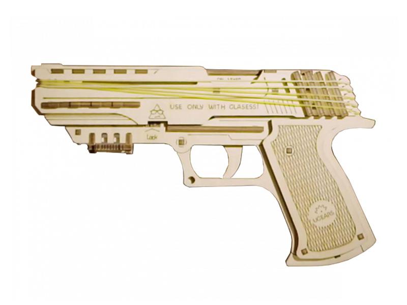 Конструктор UGears Пистолет Вольф-01