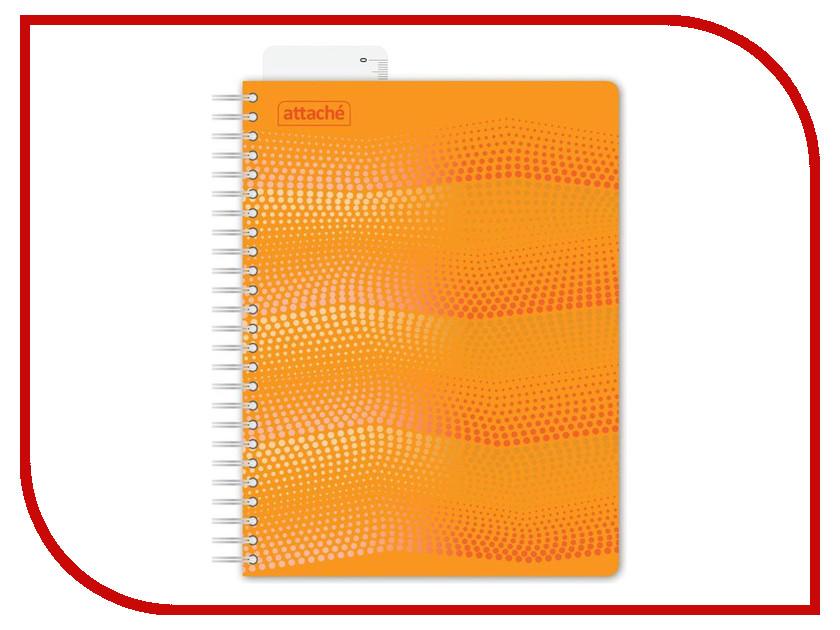 Бизнес-тетрадь Attache Waves A5 100 листов Orange 272859 sound waves