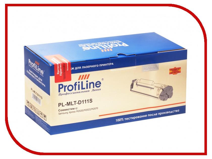 Картридж ProfiLine PL-MLT-D111S для Samsung Xpress M2020/M2022/M2070 1000k картридж sakura mlt d111s для samsung sl m2020 2022 2070 1000стр