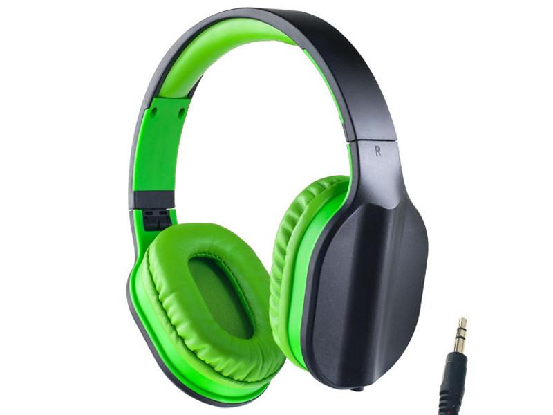 Наушники Perfeo Dual Black-Green — Dual