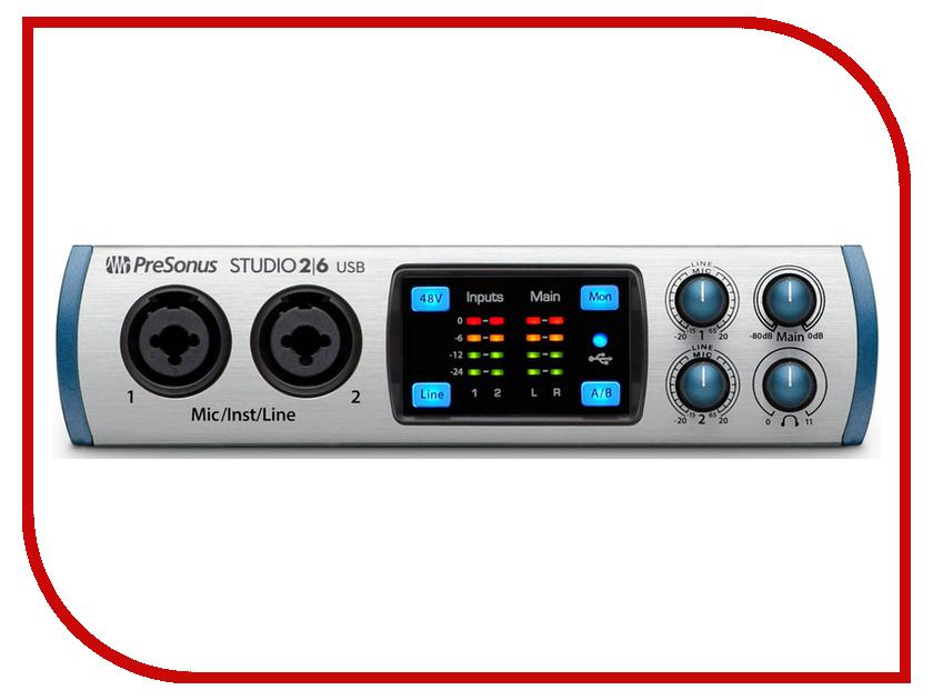 Аудиоинтерфейс PreSonus Studio 26 presonus hp60