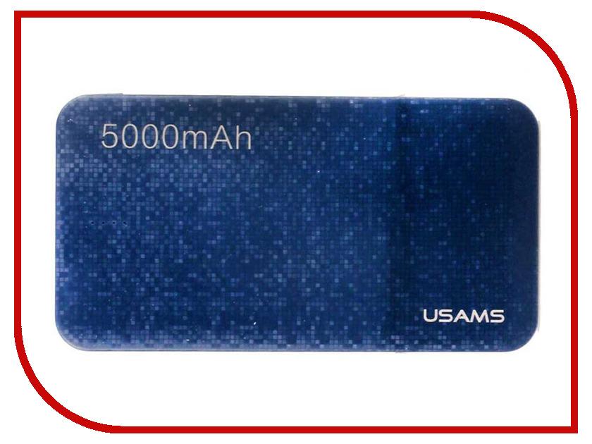 Аккумулятор USAMS Mosaic Series US-CD20 5000mAh Blue аксессуар usams us sj199 usb lightning 1 2m blue