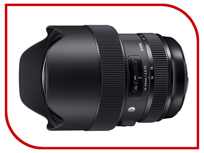 Объектив Sigma 14-24mm f/2.8 DG HSM Art Canon EF xiumei 24mm классический