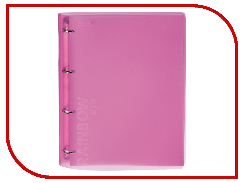 Бизнес-тетрадь Attache Rainbow Style A4 Pink 618392 a4 rainbow expanding document folder 13 pocket school portable accordion bag