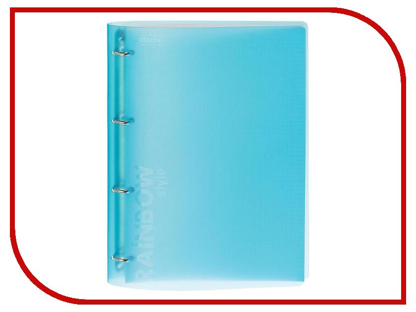 Бизнес-тетрадь Attache Rainbow Style A4 Light Blue 618393 a4 rainbow expanding document folder 13 pocket school portable accordion bag