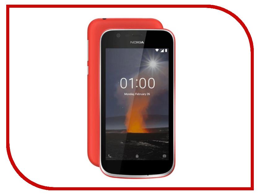 Сотовый телефон Nokia 1 Red радиобудильник rolsen rfm 300 венге 1 rldb rfm 300