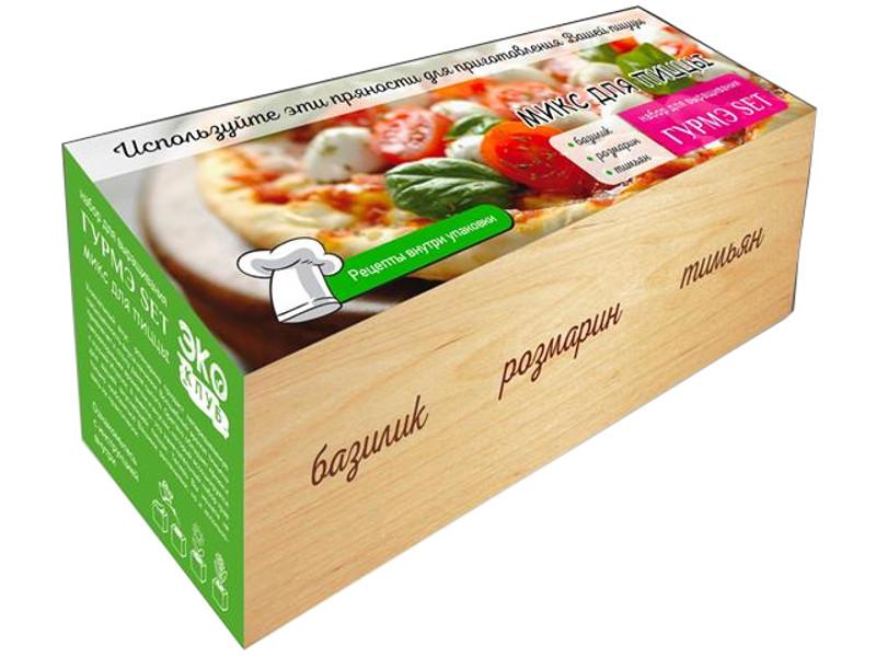 Растение ЭкоДом Гурмэ Set Микс для пиццы Базилик, Розмарин, Тимьян 1061843804698