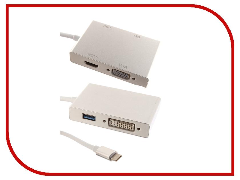 Адаптер Palmexx USBC 4 in 1 HDMI - USB 3.1 - VGA - DVI PX/HUB USBC-4in1 1 in 4 out vga video splitter ac 220v