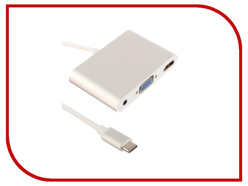 Аксессуар Palmexx USBC - HDMI - VGA - AUX Silver PX/HUB USBC-HDMI-VGA-AUX jd коллекция hdmi на vga белый дефолт