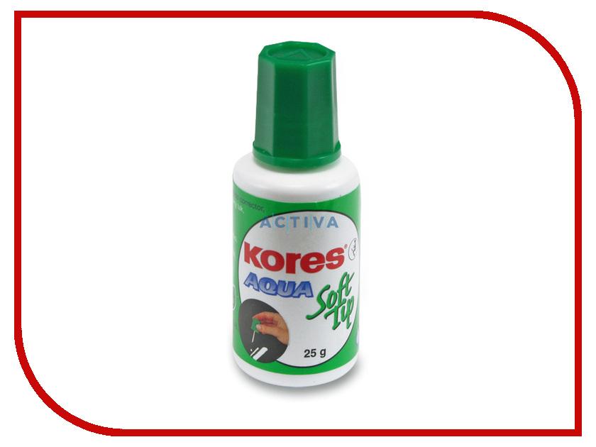Корректирующая жидкость Kores Soft Tip Aqua 25ml 60907