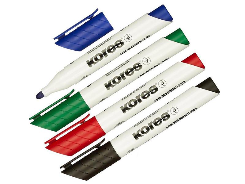 Маркер Kores 3mm набор 4 цвета 246164