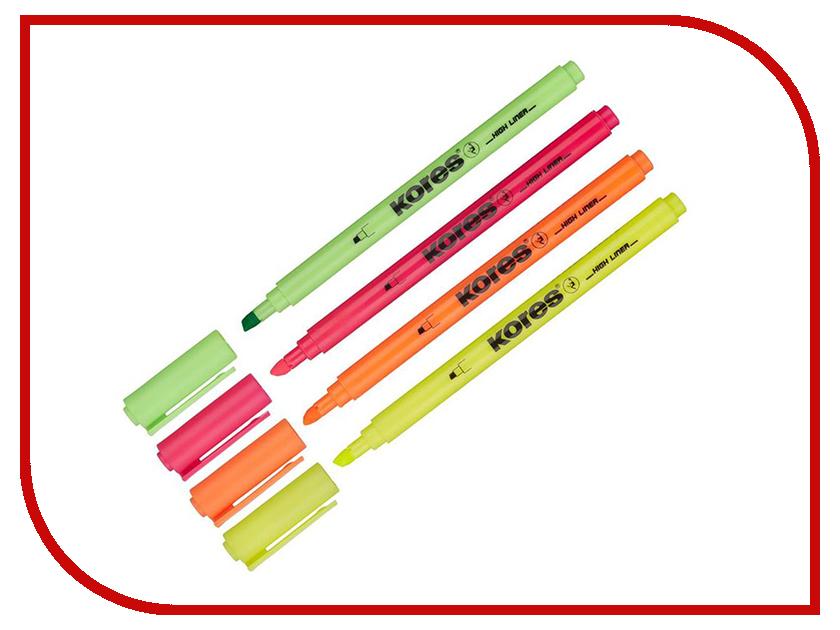 Маркер Kores 0.5-3.5mm набор 4 цвета 400747 маркер kores 1mm red 282355