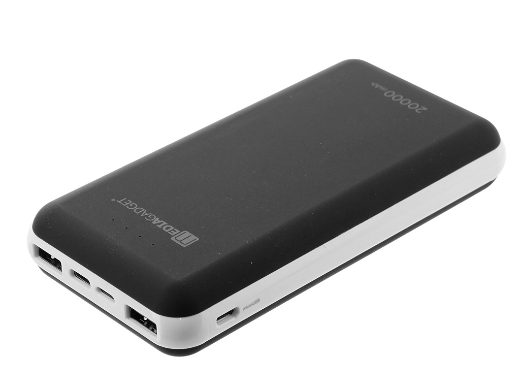 Аккумулятор Media Gadget 20000mAh Black MGXPC113MLCBK аккумулятор aukey 20000mah pb n36 black