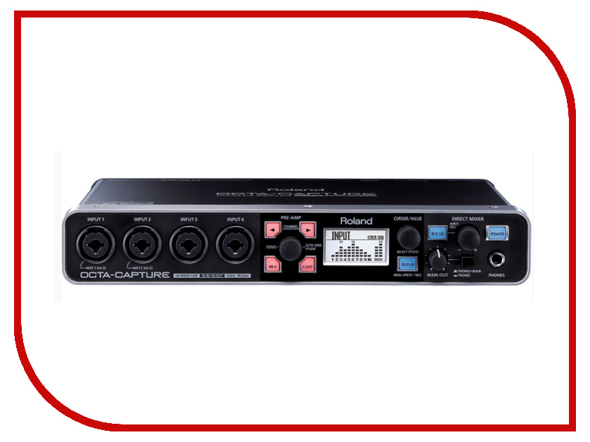 Аудиоинтерфейс Roland Octa-Capture UA-1010 аудиоинтерфейс roland ua 4fx2