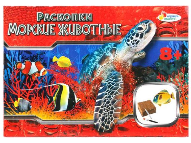 Настольная игра Играем вместе Расскопки: Морские обитатели 666-620-RU