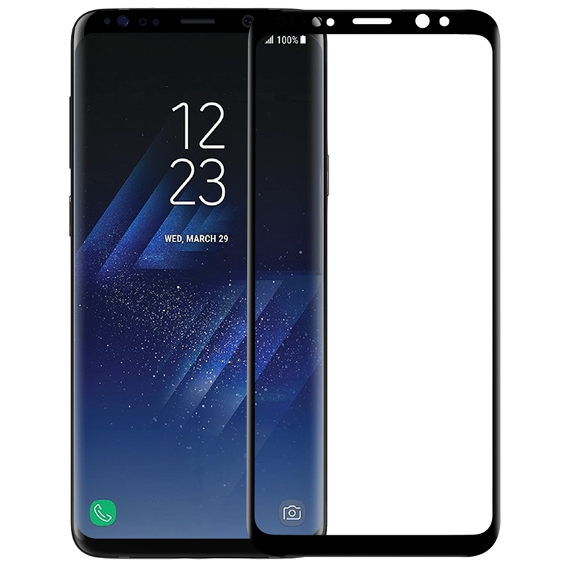 Аксессуар Защитное стекло Media Gadget для Samsung Galaxy S9 3D Full Cover Glass Black Frame MG3DGSGS9BK