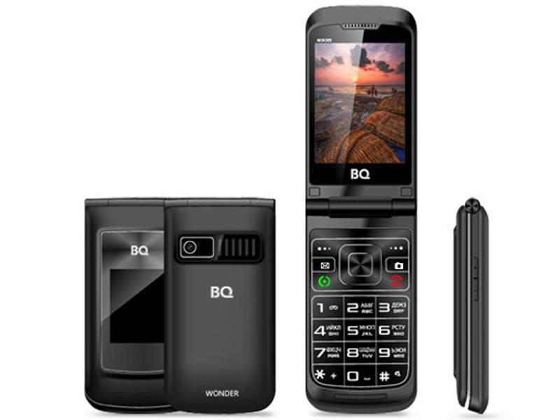 Сотовый телефон BQ BQ-2807 Wonder Black мобильный телефон bq 2807 wonder brown