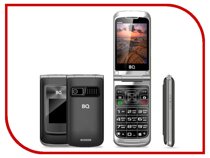 Сотовый телефон BQ BQ-2807 Wonder Grey сотовый телефон bq bq 2805 boom xl grey