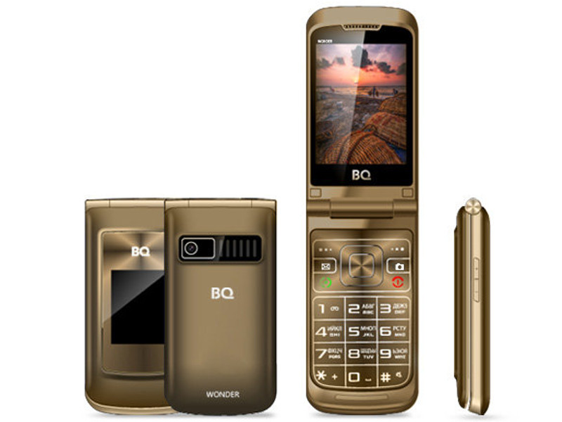 Сотовый телефон BQ BQ-2807 Wonder Gold сотовый телефон bq aquaris v 2gb ram 16gb mist gold
