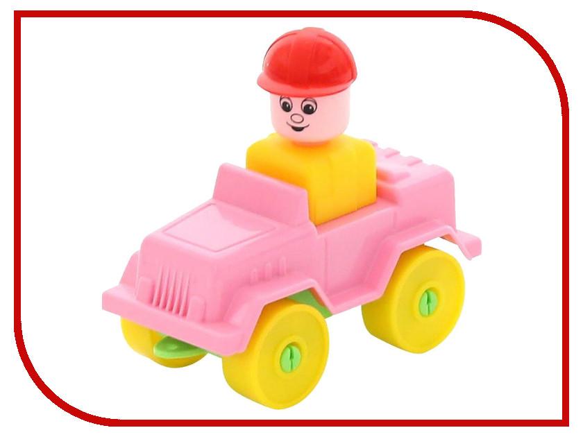Конструктор Полесье Юный путешественник - Автомобиль-джип 9 дет. 55262 игрушка полесье volvo автомобиль трейлер автокар конструктор супер микс 30 дет 58409
