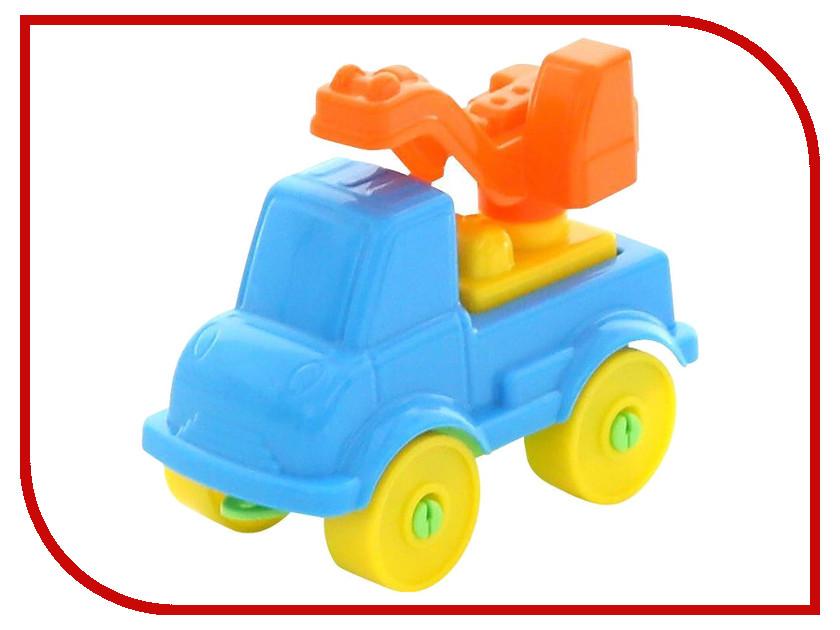 Конструктор Полесье Юный путешественник - Автомобиль-кран 8 дет. 55293 игрушка полесье volvo автомобиль трейлер автокар конструктор супер микс 30 дет 58409