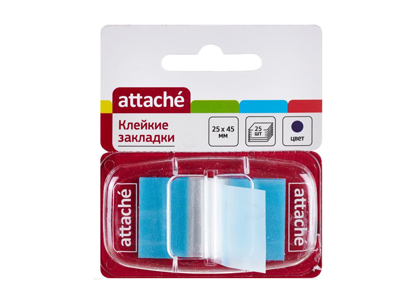 Стикеры Attache 25x45mm 25 листов Blue 166083