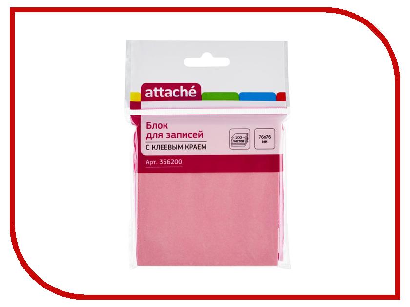 Стикеры Attache 76x76mm 100 листов Pink 356200 стикеры pink dolphin