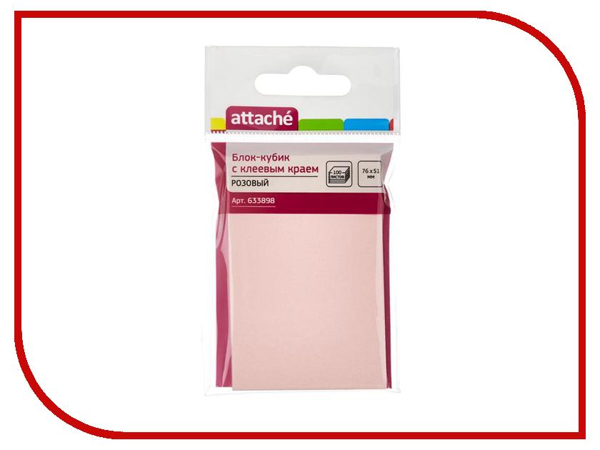 Стикеры Attache 76x51mm 100 листов Pink 633898 стикеры pink dolphin