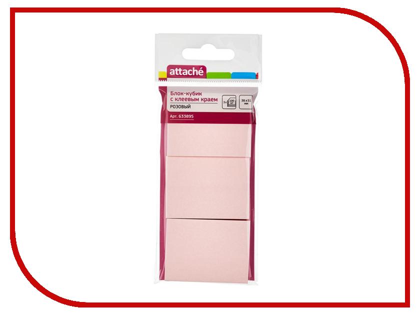 Стикеры Attache 38x51mm 300 листов Pink 633895 стикеры pink dolphin