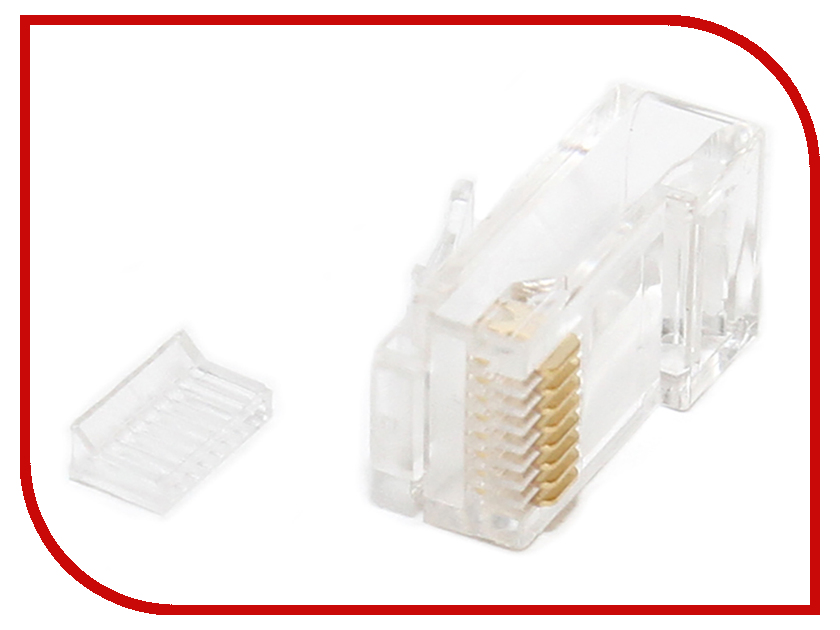 Коннектор 5bites RJ-45 8p8c US007A - 100шт проходник 5bites ly us022 rj 45 8p8c f f