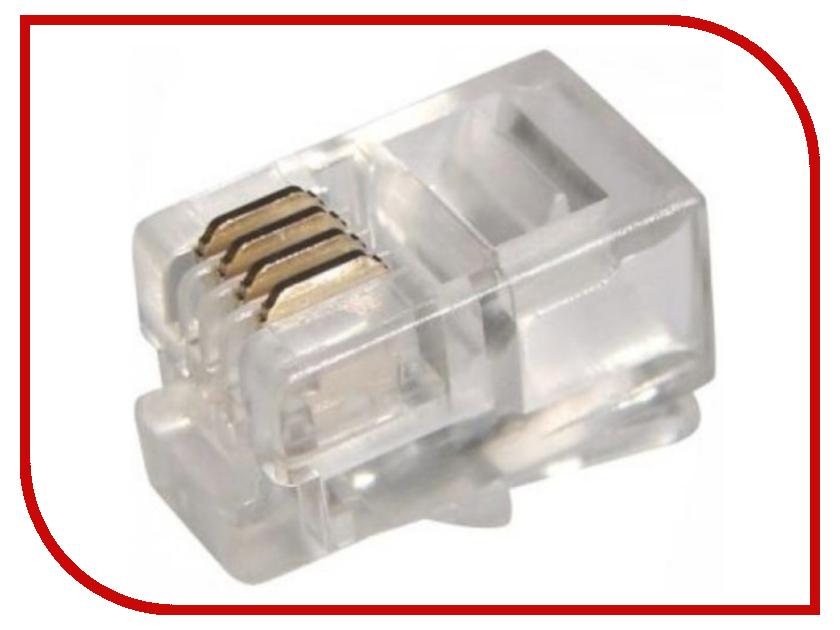Коннектор 5bites RJ-45 8p8c US010 / US100A - 100шт коннектор rj 45 ftp 6 8p8c со вставкой