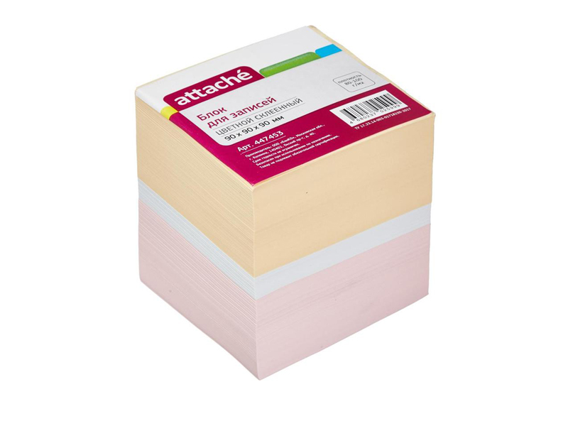 Стикеры Attache 90x90x90mm Colorful 447453