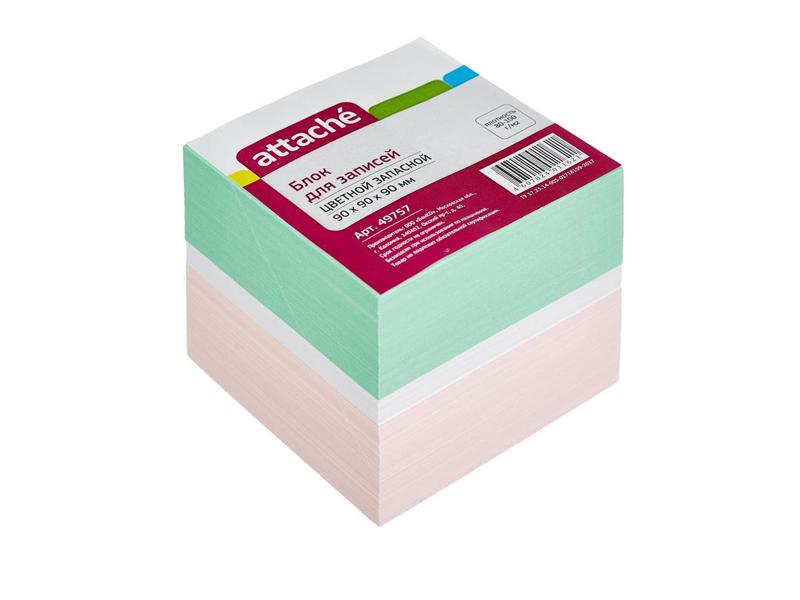 Стикеры Attache 90x90x90mm Colorful 49757 цена