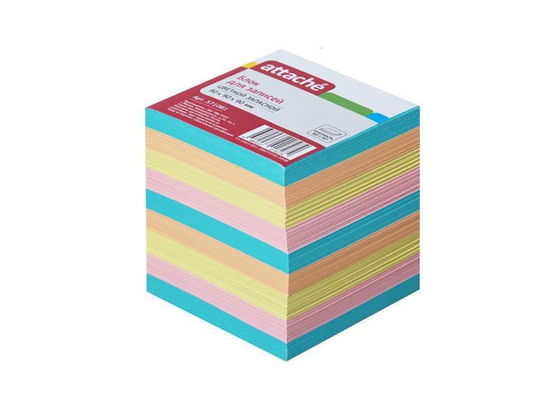 Стикеры Attache 90x90x90mm Colorful 371081
