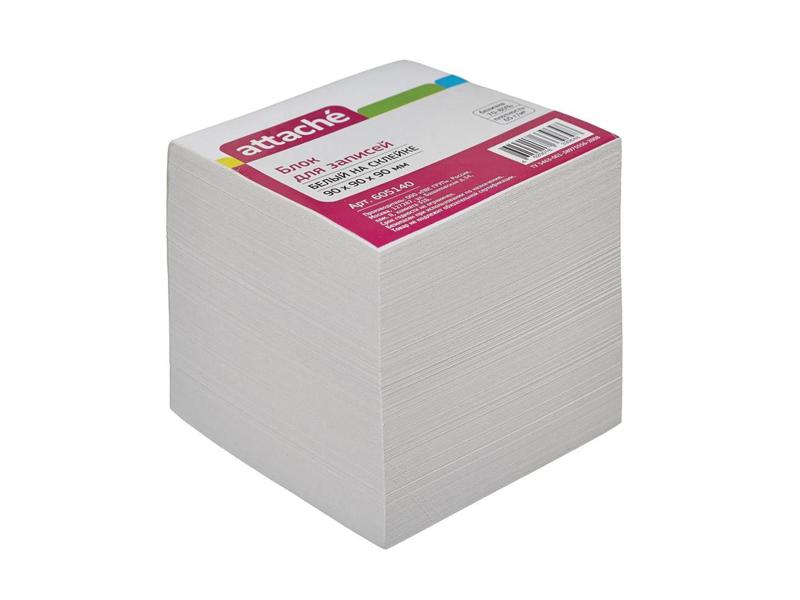 Стикеры Attache Эконом 90x90x90mm White 605140