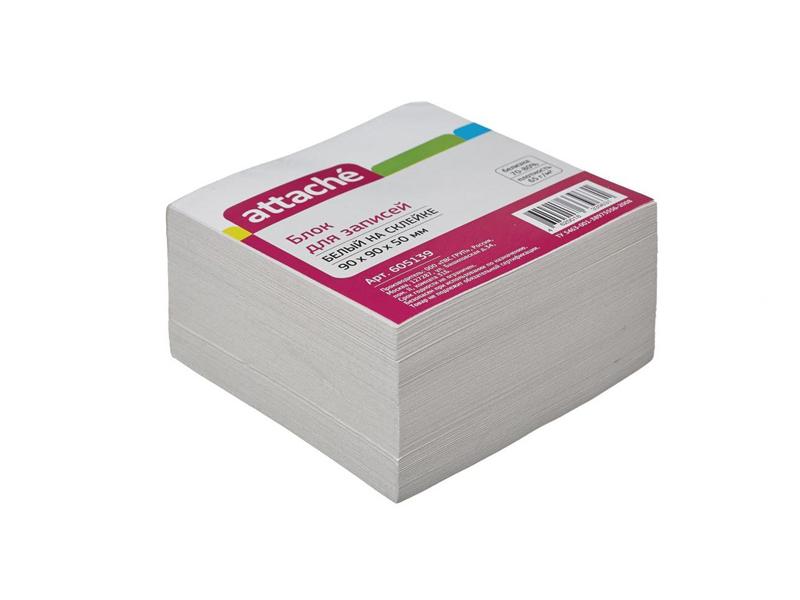 Стикеры Attache Эконом 90x90x50mm White 605139