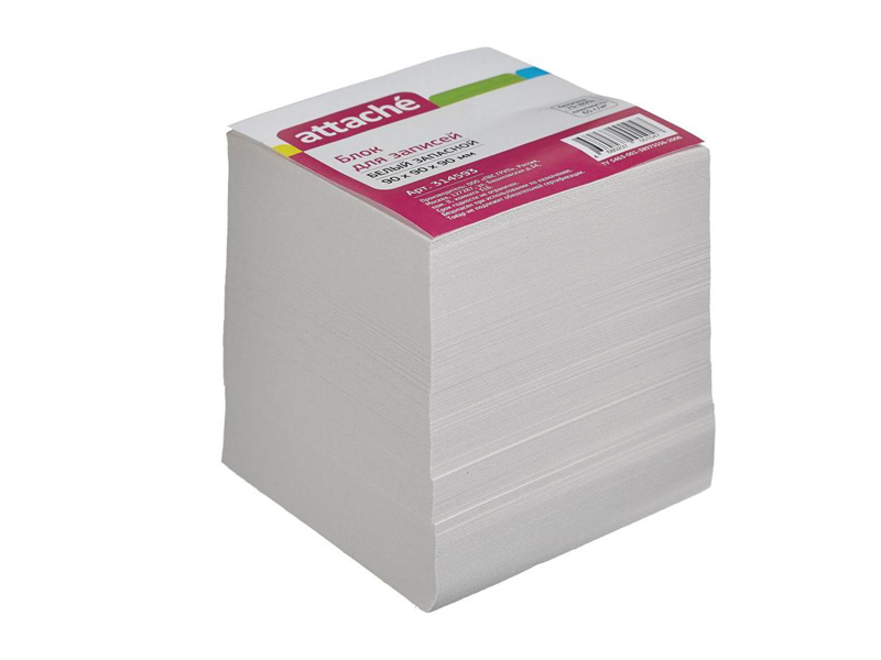 Стикеры Attache Эконом 90x90x90mm White 314593