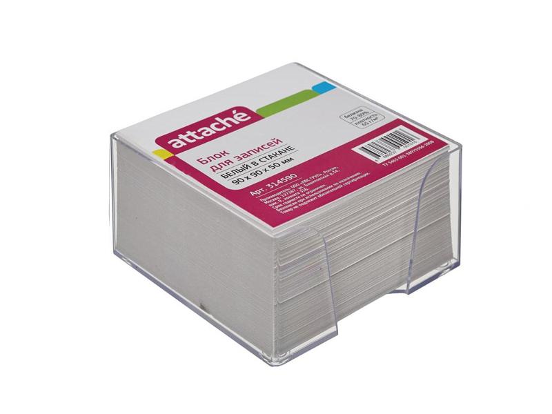 Стикеры Attache Эконом 90x90x50mm White 314590