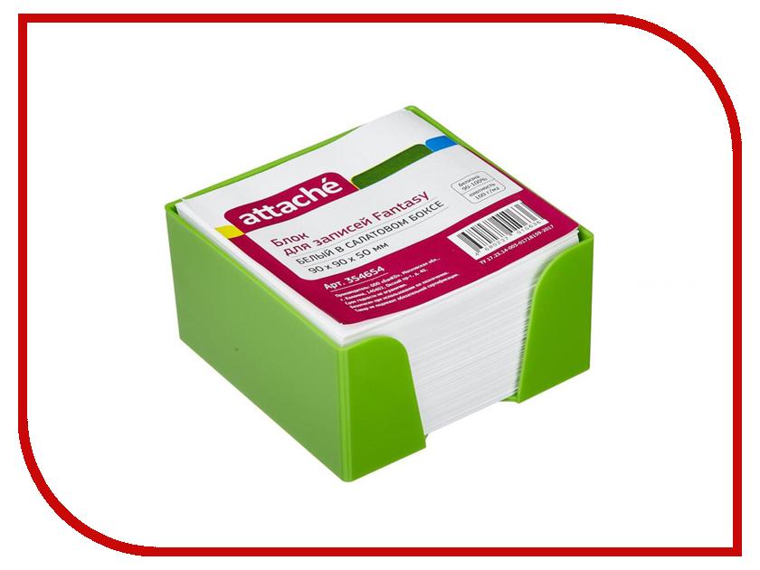 Стикеры Attache Fantasy 90x90x50mm Light Green-White 354654 cupcake baking injector cleaning brush light green white