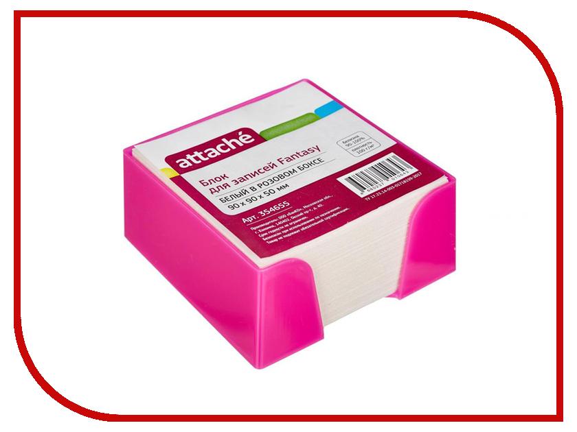 Стикеры Attache Fantasy 90x90x50mm Pink-White 354655 стикеры pink dolphin
